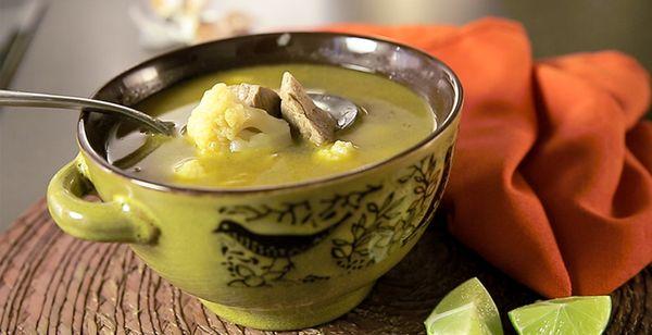 Sopa de Coliflor al Limón