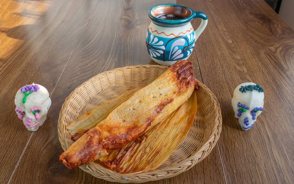 Tamales de Pollo al Pasilla