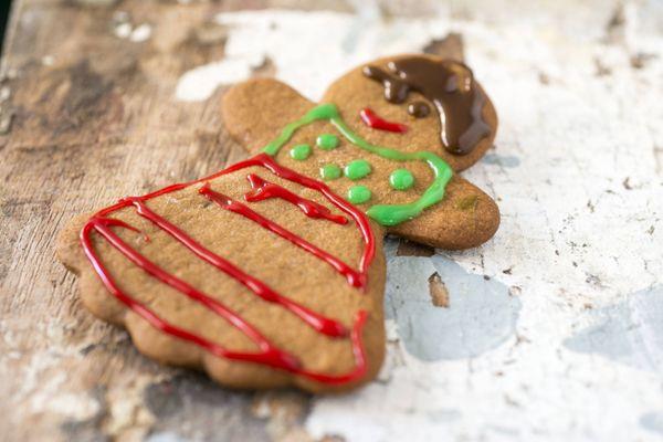 Biscoitos de gengibre decorados