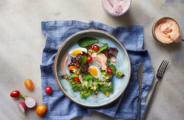 Salada Verde com Molho Rosé