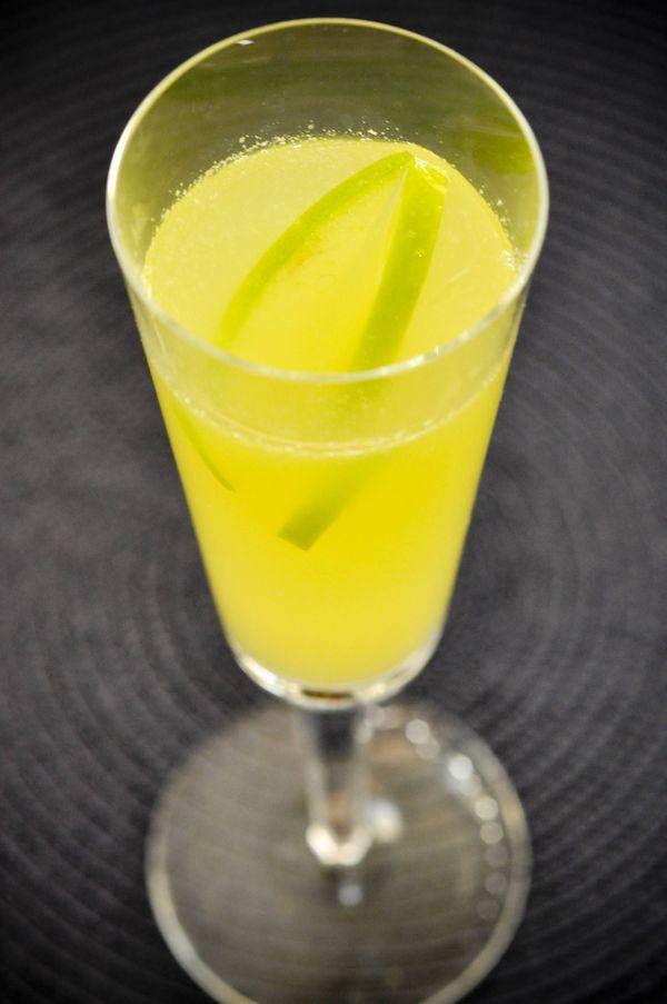 Drink de maçã verde