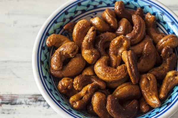 Nuts torrados e apimentados