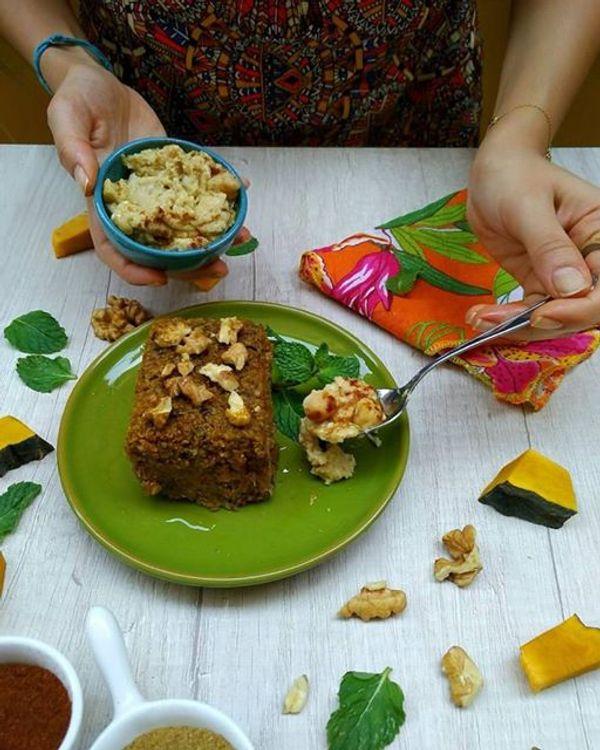 Quibe de Abóbora com Quinoa e Especiarias