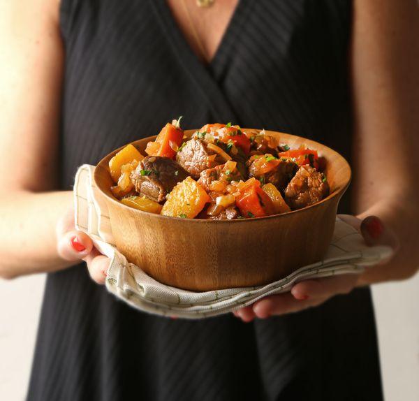 Cozido de Carne com Mandioquinha e Cenoura
