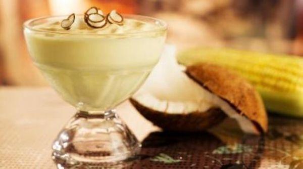 Mousse Gelada Coco com Kibon Cremosíssimo Creme