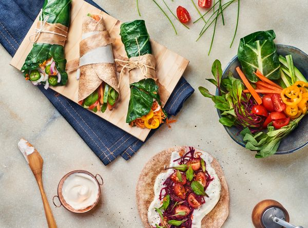 Wrap de Legumes Vegano
