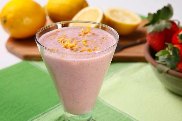 Vitamina de Morango e Limão-Siciliano