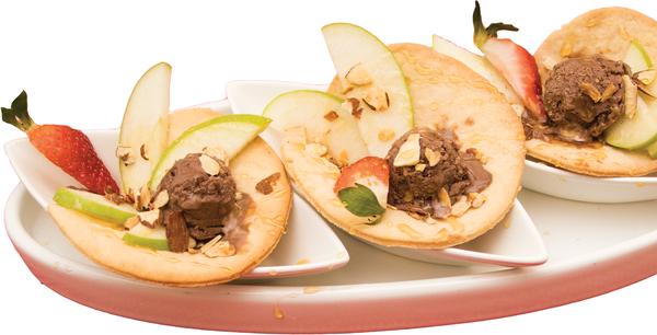 Mini Tacos de Chocolate e Maçã