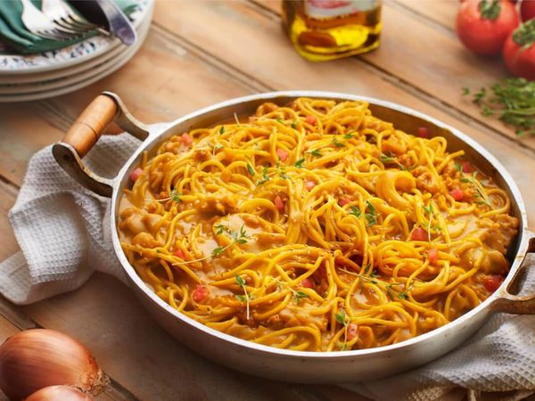 Spaghetti ao Molho de Abóbora