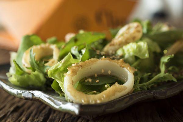 Salada oriental de lula