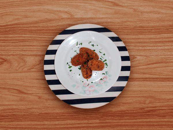 Bolinho de Tapioca, Carne e Queijo da Michele Crispim