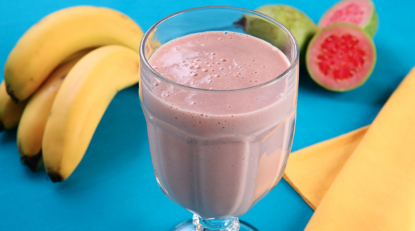 Vitamina Cremosa de Banana e Goiaba