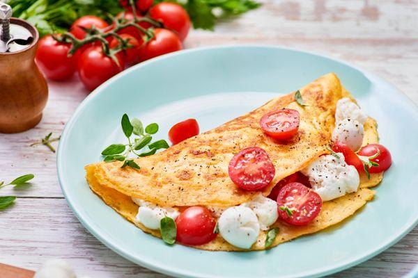 Omelete com Muçarela de Búfula
