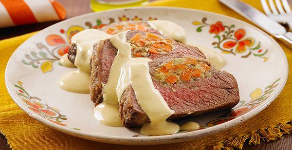 Carne Recheada com Gorgonzola