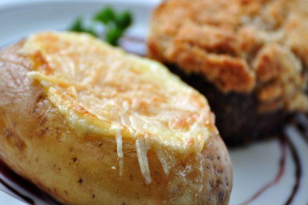 Batatas gratinadas com maionese
