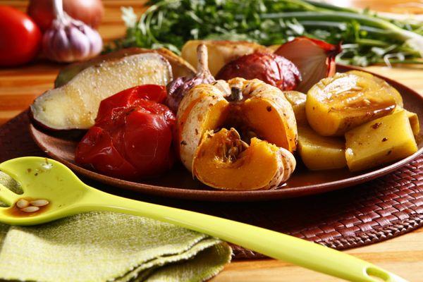 Legumes assados à moda caipira