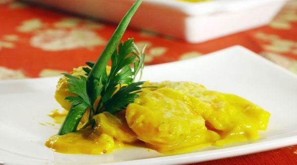 Batatas ao Molho de Curry