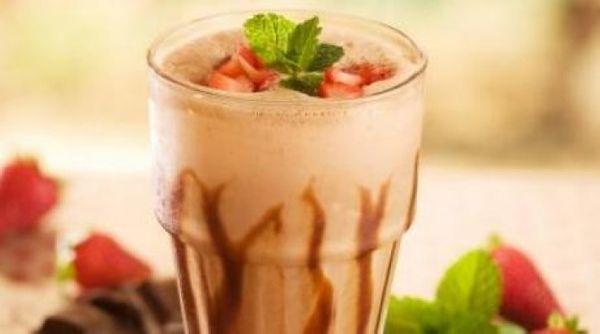 Milkshake de Chicabon Zero Açúcar com Morango e Hortelã