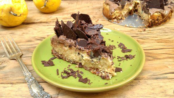 Torta Cremosa de Maracujá com Chocolate