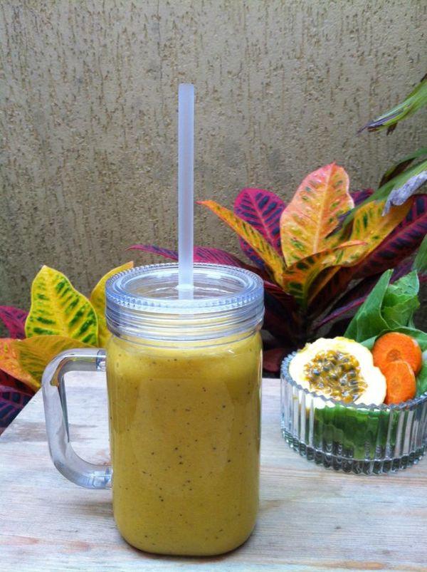 Smoothie Funcional de Frutas Amarelas com Aveia Mãe Terra